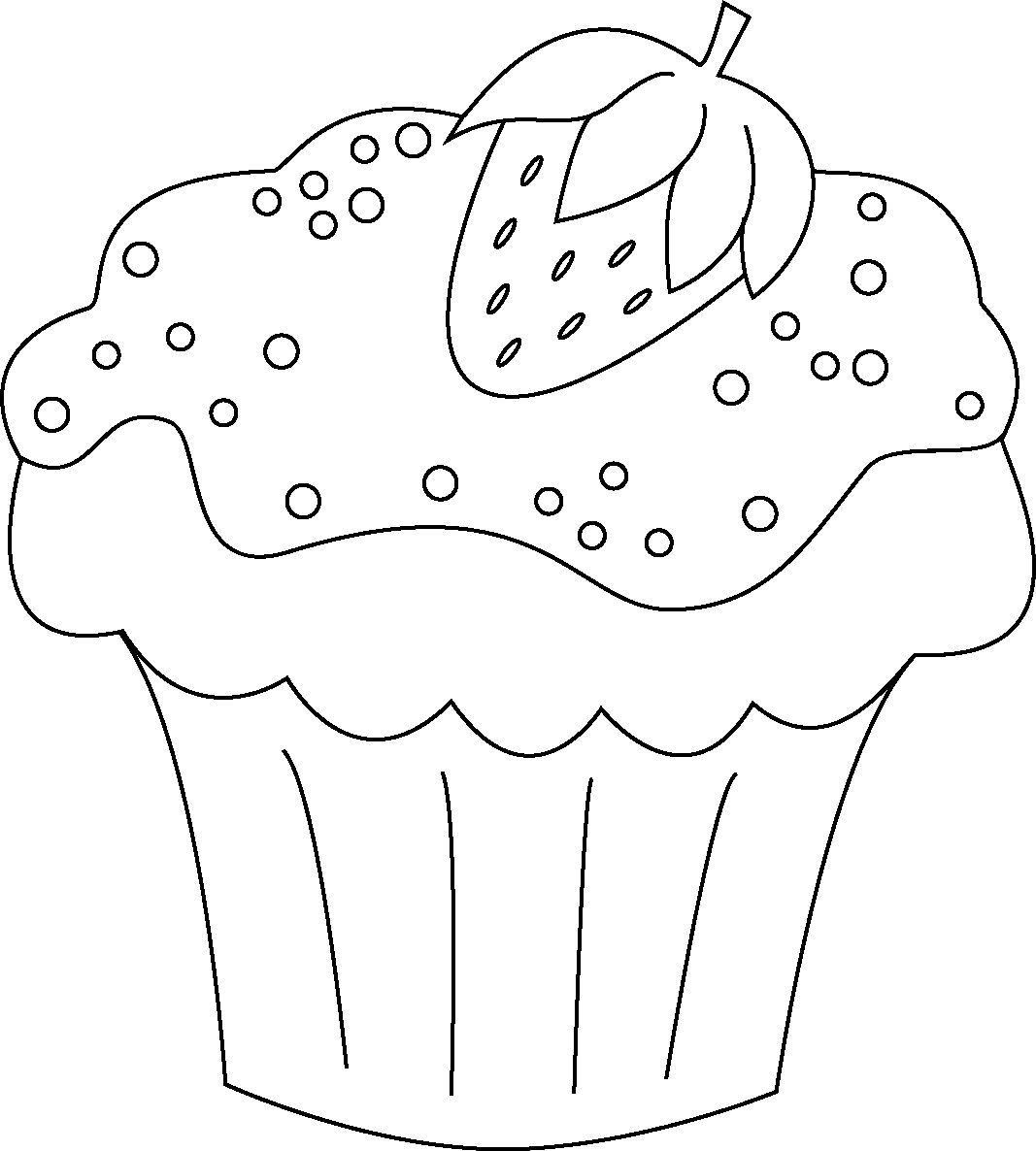 Nice Coloring Pages Of Cupcakes
