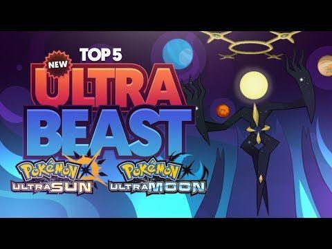 Top 5 Possible New Ultra Beasts For Pokemon Ultra Sun And Ultra Moon Youtube Pokemon Beast New Pokemon