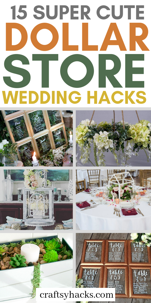 15 Super Cute Dollar Store Hochzeits-Hacks   – Wedding ideas