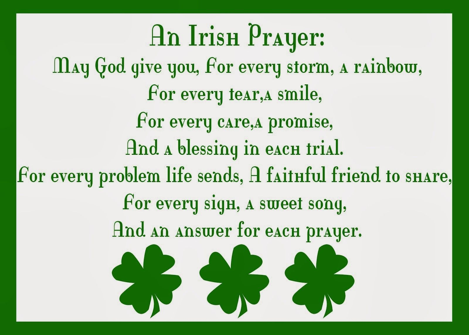 St. Patrick's Day Prayer | ... .com/pages/Irish-Sayings-Proverbs ...
