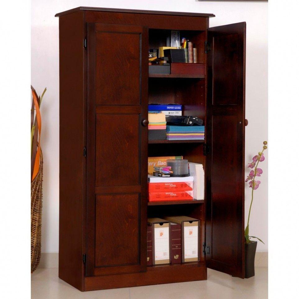 Dark Wood Storage Cabinet Wood Storage Cabinets Pinterest Wood