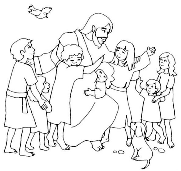 Jesus Loves Me Coloring Page Book For Kids Sunday School