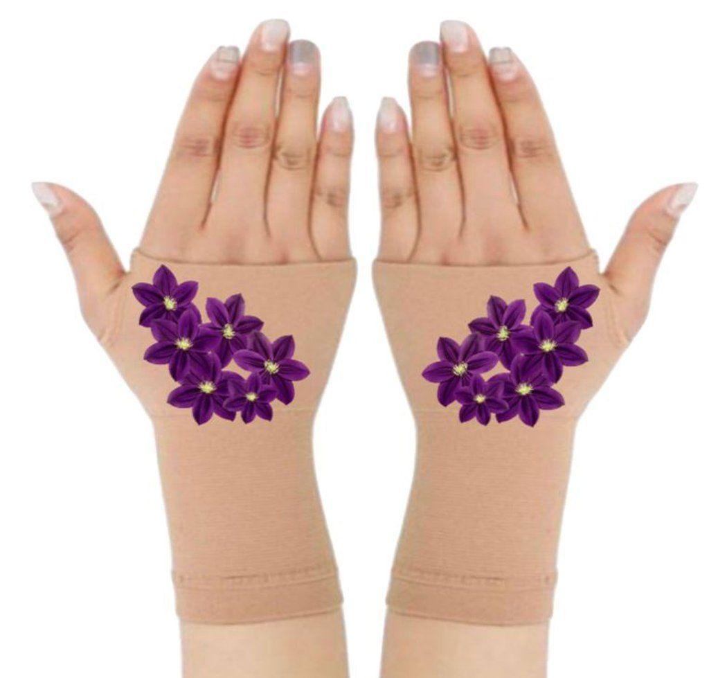 Fingerless Gloves  Wrist Support for Arthritis  Carpal Tunnel Treatment  Purple Bouquet  Fingerless Gloves  Wrist Support for Arthritis  Carpal Tunnel Treatment  Purple B...