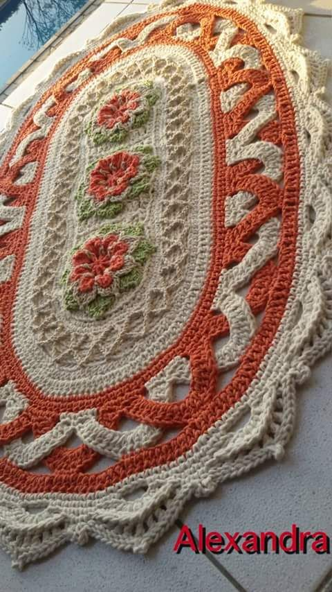 Pin de tona en crochet | Pinterest | Tapetes, Tejido y Ganchillo