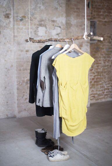 Garderobenstange, Garderobe, Alter Ast, Diy | Architecture