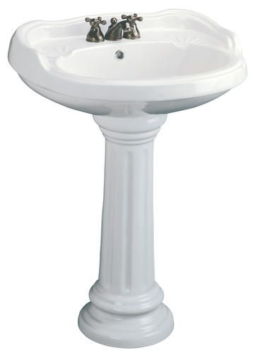 Mancesa By Mansfield Mazara Pedestal Lavatory 4 Faucet Center At