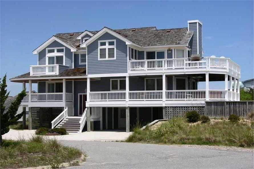 Beachfront Coastal California Style House Plans Home Design Ff 2318 16765 Coastal House Plans Beach House Floor Plans Beach House Plans