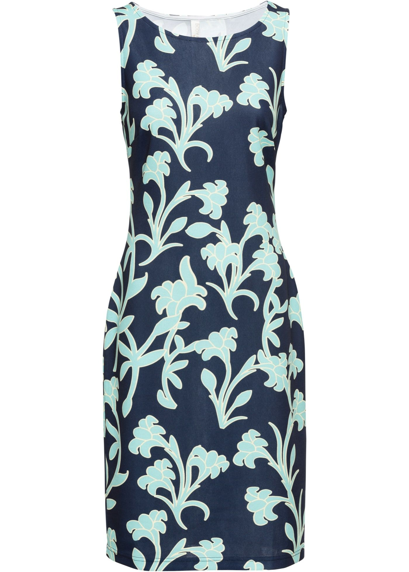 10e3cabaa92 Платье с принтом черный синий в цветочек - Для женщин - BODYFLIRT boutique  - bonprix