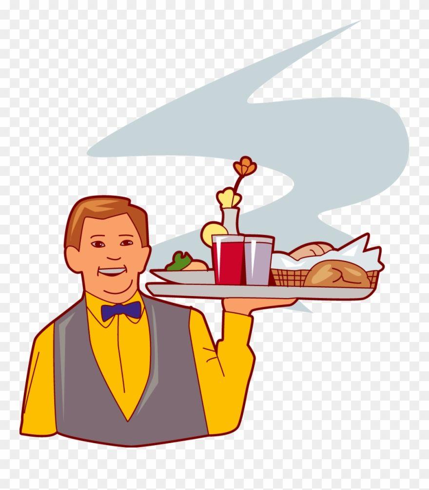 Download Hd Clip Art Transparent Download Esl Hotel Waiter Carrying Food Clipart Png Download And Use The Free Clipart Clip Art Free Clip Art Food Clipart