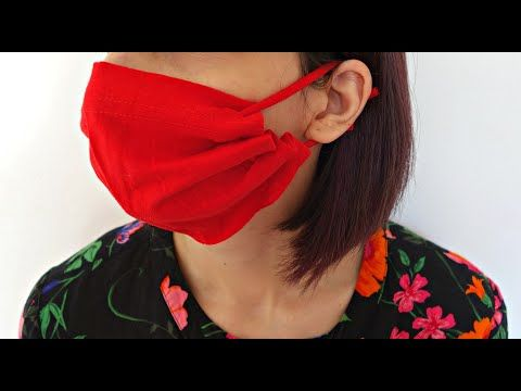 DIY NO SEW Face mask from T-shirt sleeve | 5 minutes | Maison Zizou