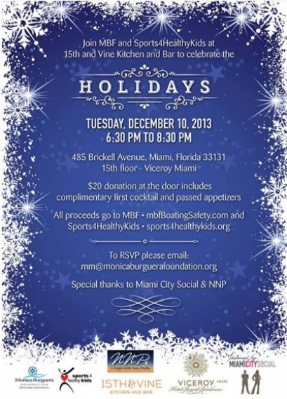 Mbf Sports 4 Healthy Kids Holiday Happy Hour Healthy Kids Holidays With Kids Holiday