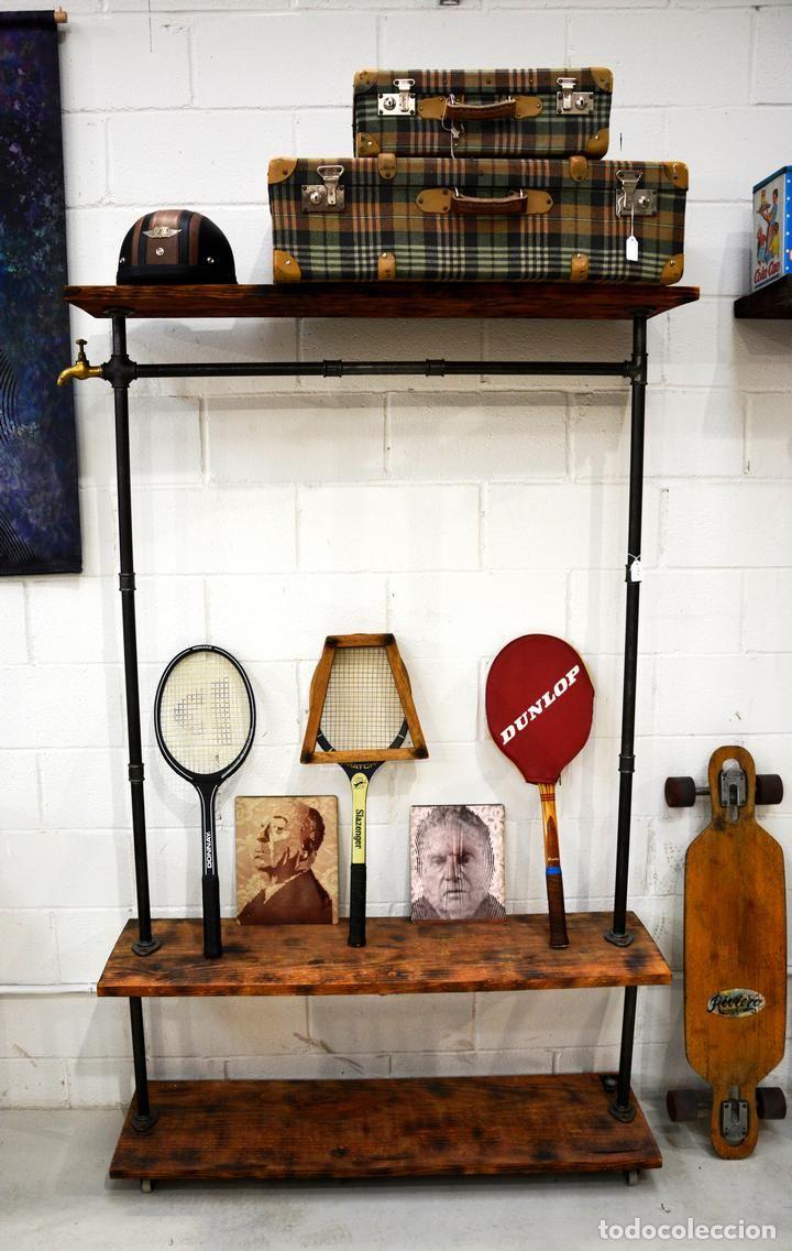 Muebles industriales con tuber a de acero y madera for Muebles industriales retro