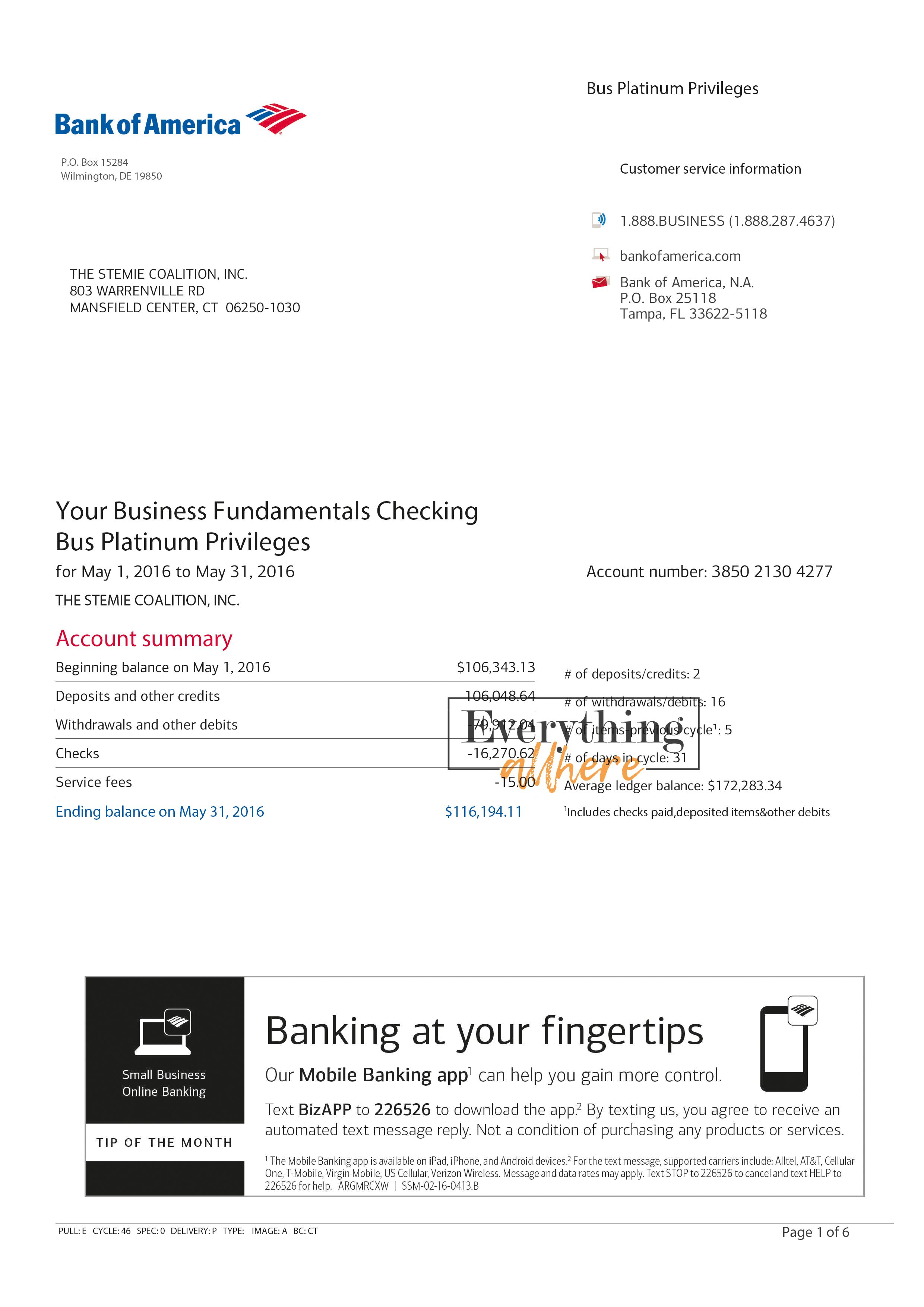 Bank Of America Bank Statement Psd Template Statement Template Bank Of America Bank Statement Bank of america check template