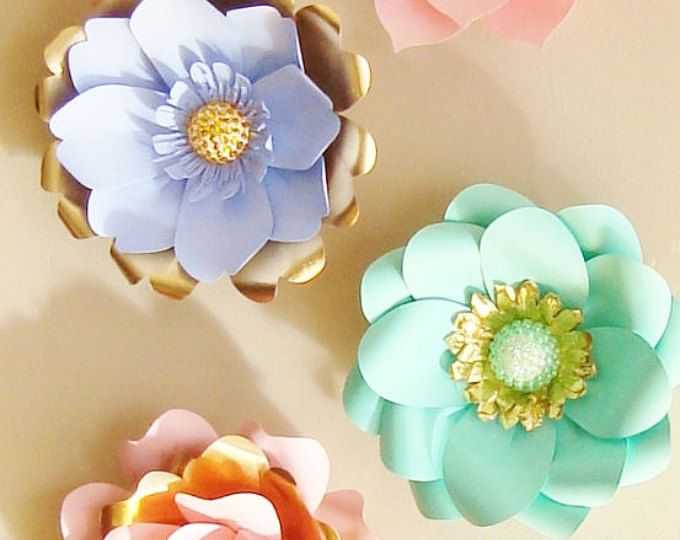 Baby room wall decor paper flowers paper flowers over the cribs 6 mini paper flowers with jewel centres baby nursery decor paper flowers small paper flowers paper flower wall flower wall art mightylinksfo
