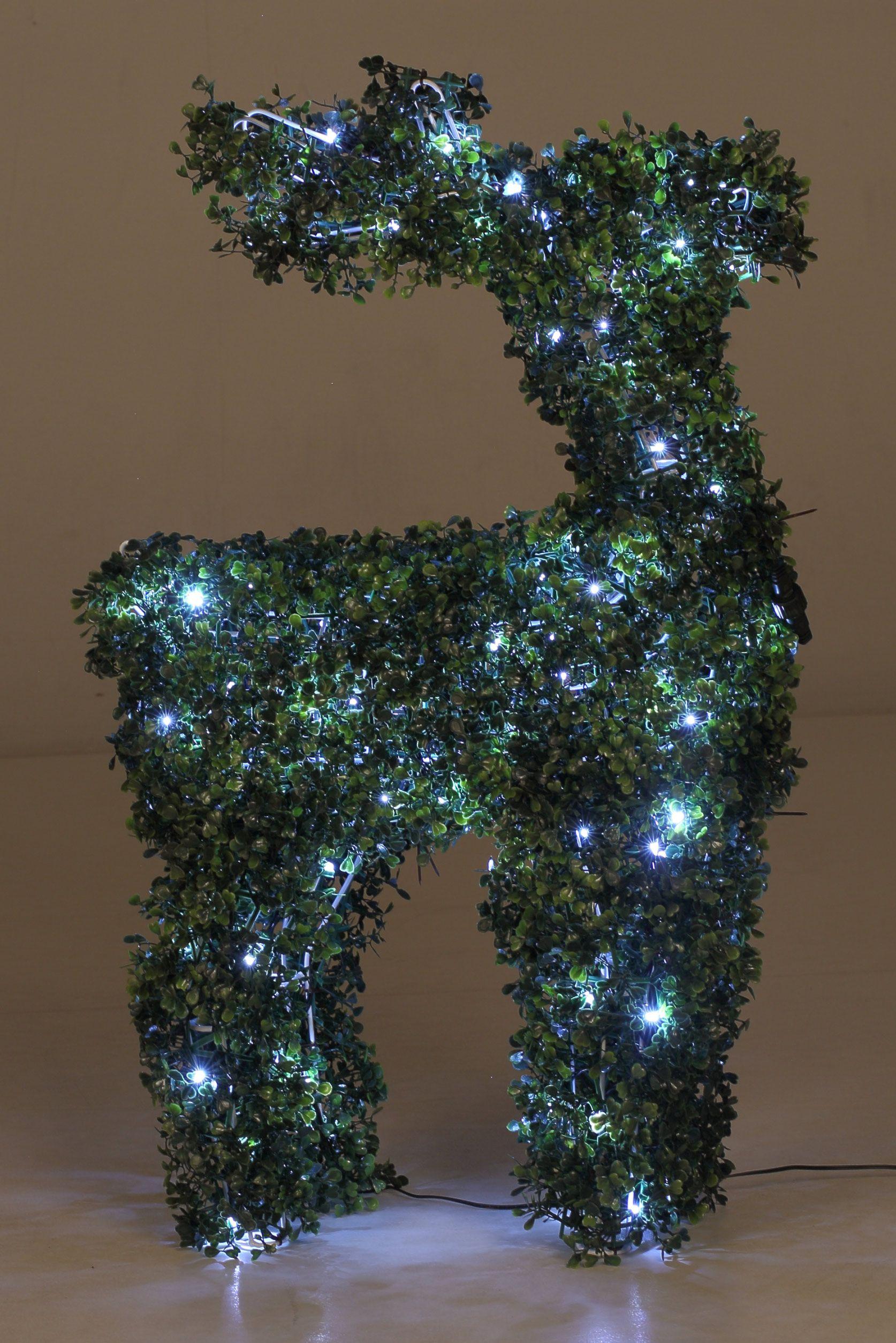 Weihnachtsdeko Beleuchtet.Weihnachtsdeko Beleuchtet Rentier Figur 82 Cm Hoch Als Beleuchtete