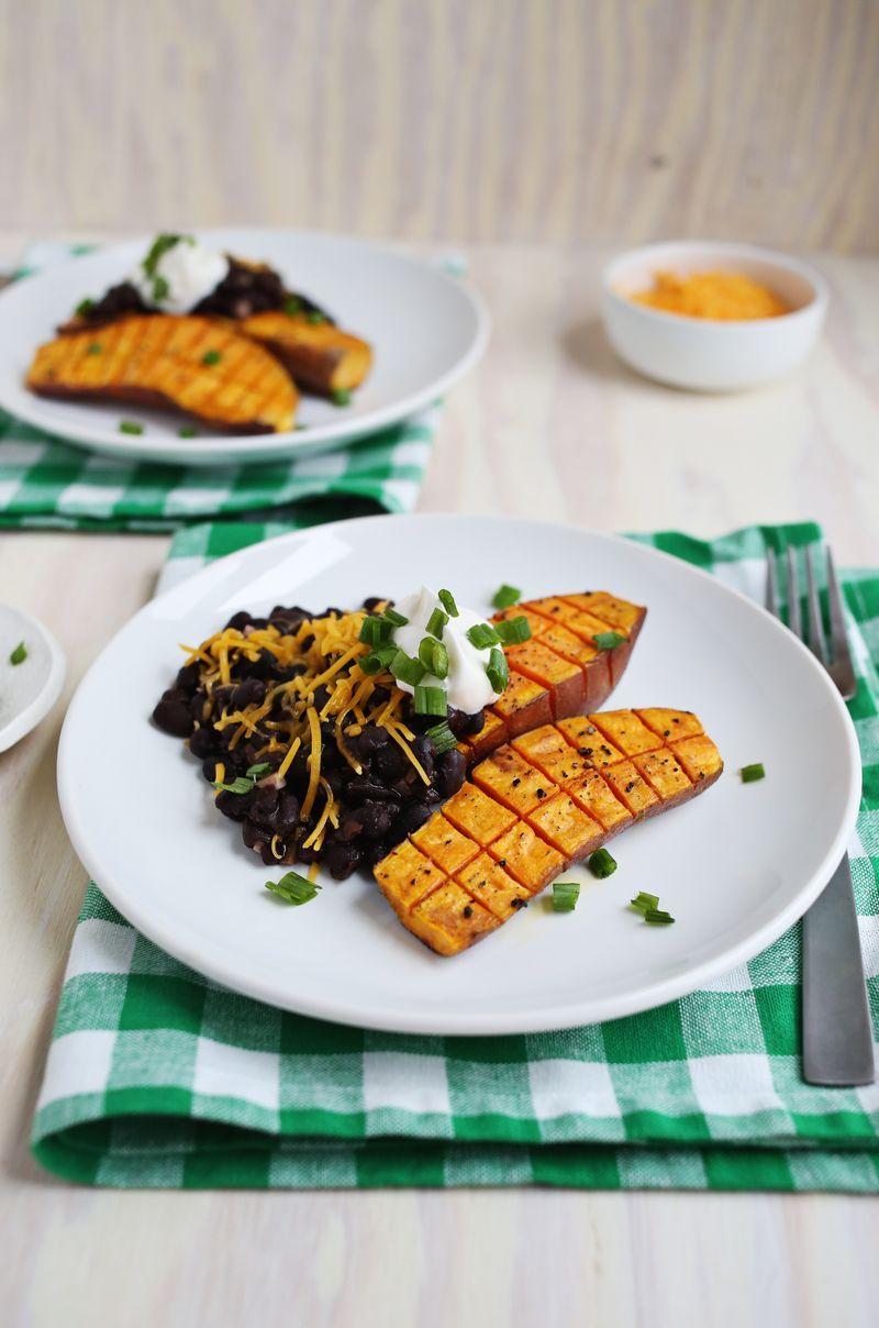 Roasted Sweet Potatoes Black Beans A Beautiful Mess Roasted Sweet Potatoes Sweet Potato Black Beans Vegetarian Recipes
