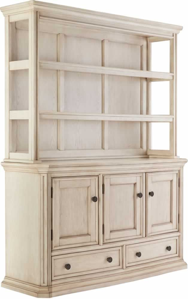 Signature Design Demarlos Vintage Casual Parchment White Wood Dining Room  Server With Hutch By Ashley
