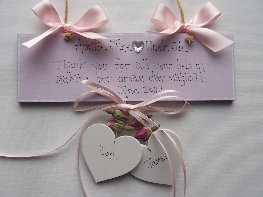 Personalised Wedding Gift Thank You Keepsake From The Bride And Groom To Mum