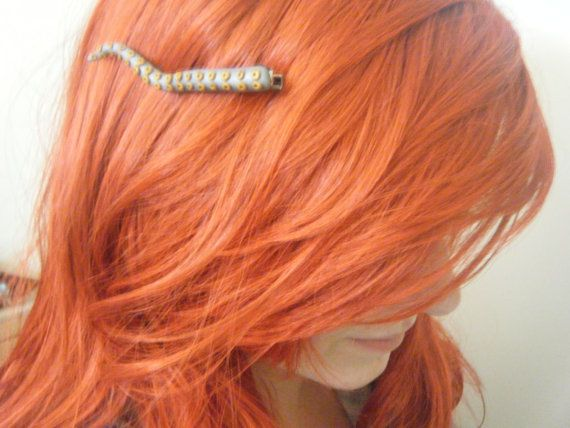 The Little Mermaid octopus tentacle hair clip by thelocalmermaid, $8.50