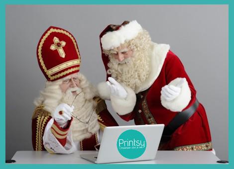 """JA! hier moeten wij het even over hebben......""""Santa, jij bent al bezig met #kerstkaartjes en je gezellige versieringen, terwijl mijn Heerlijk Avondje, nog niet eens heeft plaatsgevonden!"""" JA """"Sint daar heb je een punt, misschien kunnen wij op enkele punten samenwerken?""""  KIJK DIT IS EEN LEUK KADO IDEE!! EEN PERSOONLIJKE VERJAARDAGSKALENDER MET DE MOOISTE FOTO'S KUNNEN WIJ BESTELLEN BIJ PRINTSY.NL je kunt zelf eenvoudig teksten en foto's toevoegen…"""
