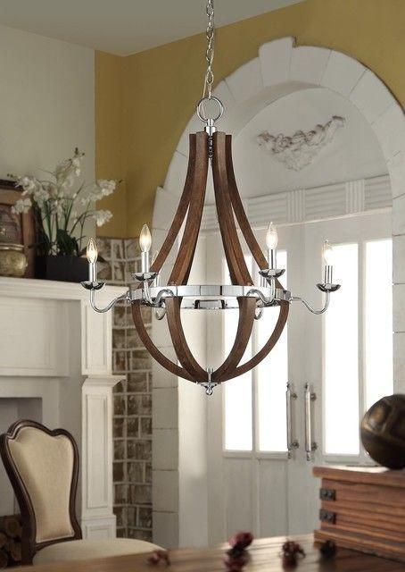 Modern Chandelier Globe 6 Lights Metal Ceiling Fixture