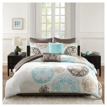 Medallion Kali Bed Set Teal 8pc Bedding Sets King Size Bedding Sets Bed