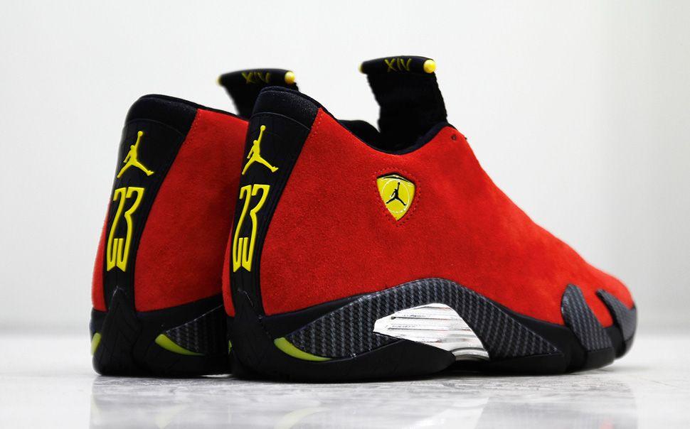 "ce09a9a9202 Air Jordan 14 Retro QS ""Ferrari"" (Release Date & Detailed Pictures) - EU  Kicks: Sneaker Magazine"