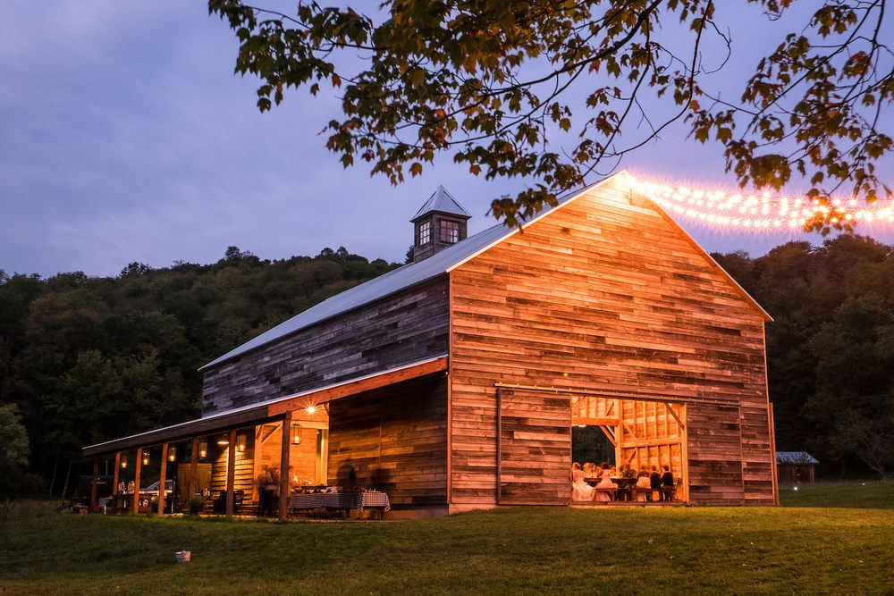 The Handsome Hollow wedding barn in Albany, New York for a ...