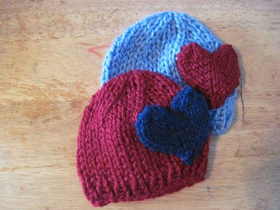 Photo of Knit newborn Heart hat – other sizes – photo shoot prop – love hat – valentines day photos – baby shower gift