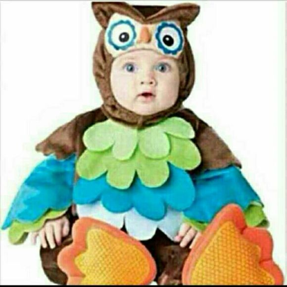 """InCharacter """"What A Hoot"""" Baby Owl Costume InCharacter Infant unisex """"What A Hoot"""" owl Great For Pictures!! My son Lyric wore it for less than 2 hours on Halloween. (Since has been stored in it's original bag) Bought off Amazon new $59.97 plus s&h  6-12 months unisex (runs a bit big* my son was 17 months and 23-25lbs when he wore this it was just a tad short because he's so tall but other than that, it fit great.**)  Comes with: Owl """"hat"""" that snaps under chin Body suit with attached owl…"""