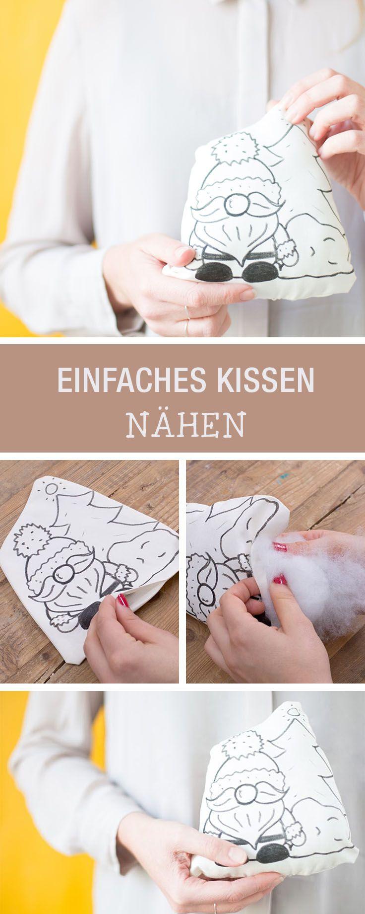 DIY-Anleitung: Einfaches Weihnachtskissen nähen via DaWanda.com