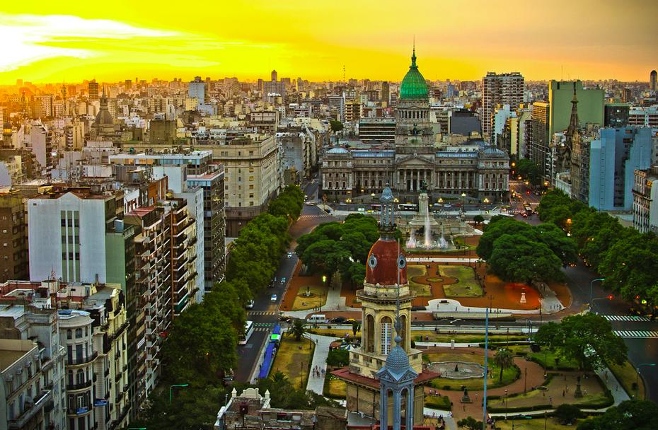 hermosa vista de la capital porteña #buenosaires #argentina @voyabuenosaires