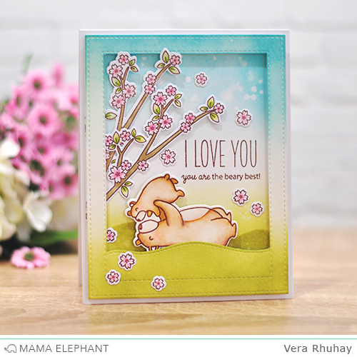 mama elephant | Stamp Highlight: CUB CUDDLES