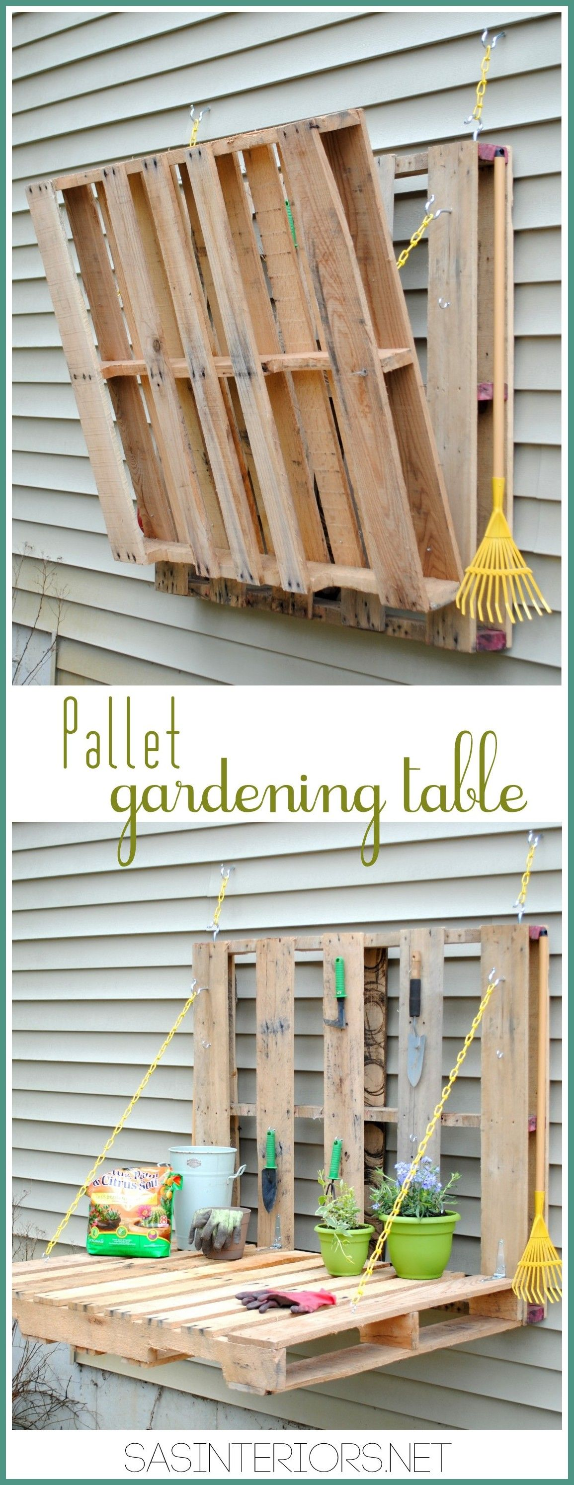 DIY: Pallet Gardening Table   Are You Looking For Somewhere To Display All  Of Those