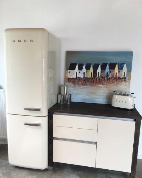 peat painted vanille bloc k chenmodul smeg fab32 retro standk hlschrank smeg toaster art. Black Bedroom Furniture Sets. Home Design Ideas