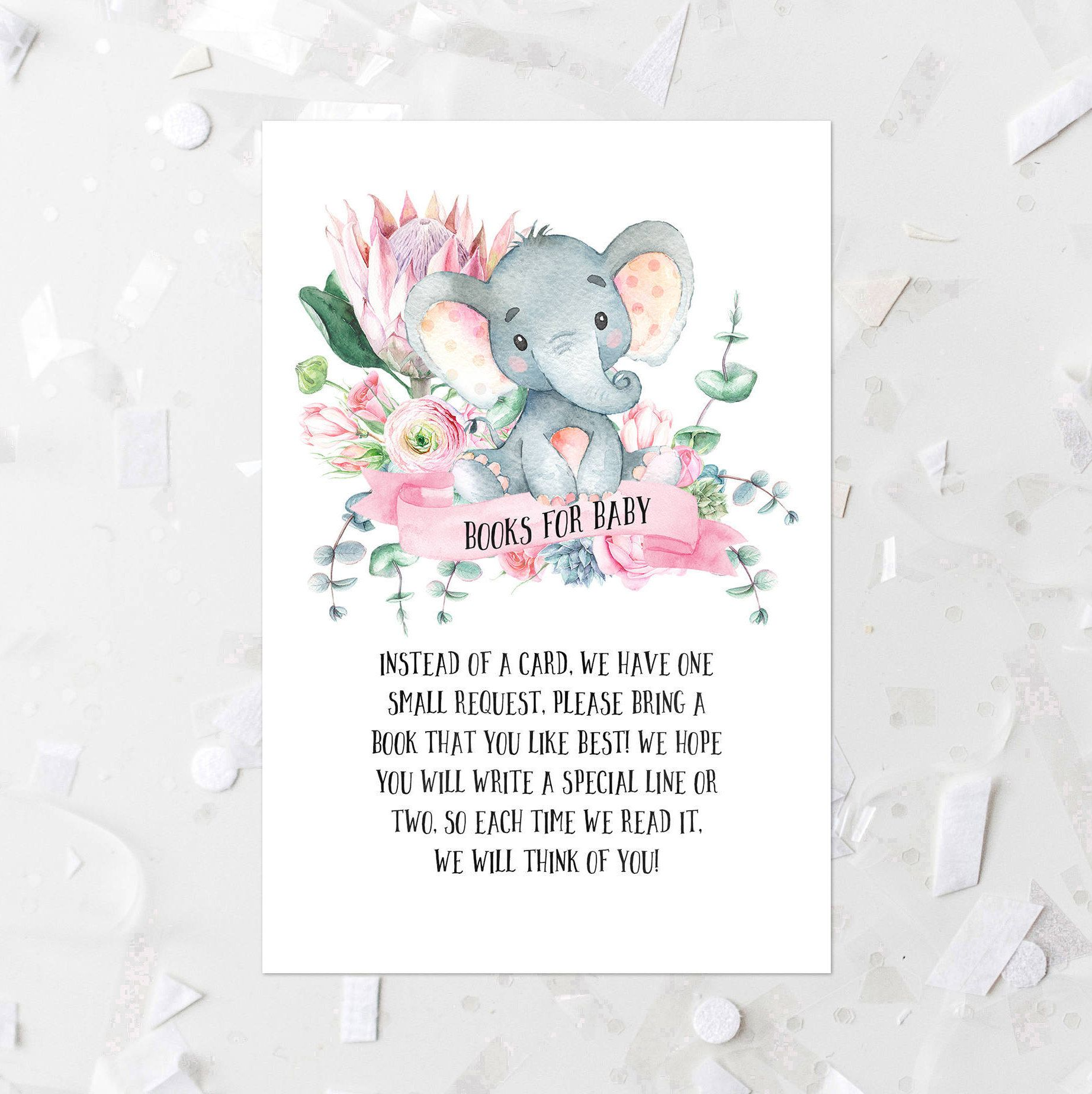 Floral Elephant Books For Baby Request Printable Elephant Books