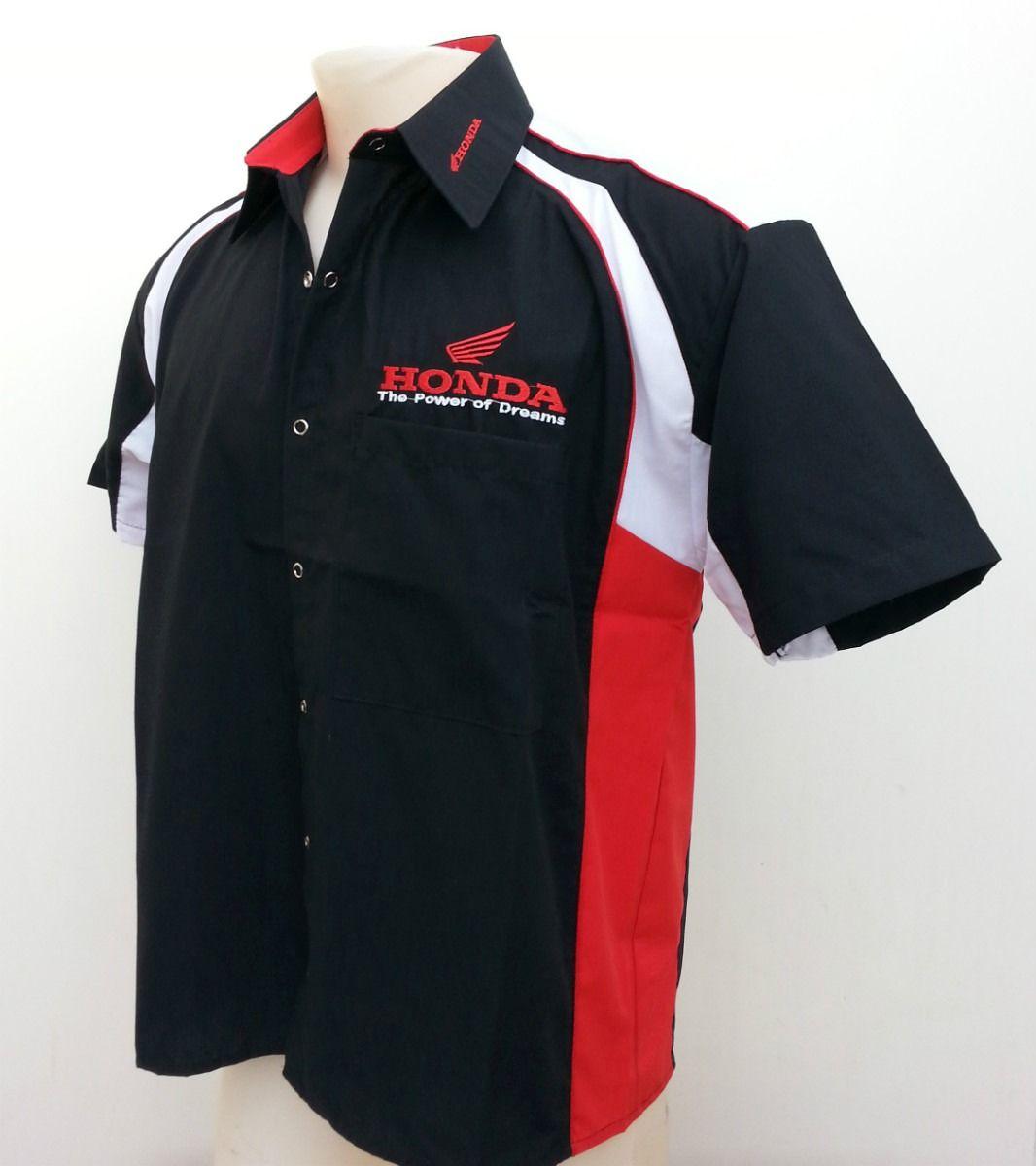 Camisa tipo racing bordada  a11606edbc0ec