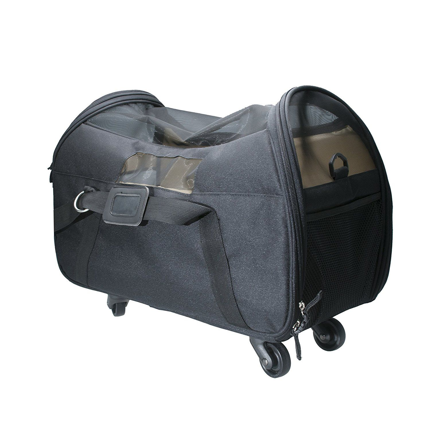 Airline Approved Pet Carrier Brown Travel Carrier With Wheels And