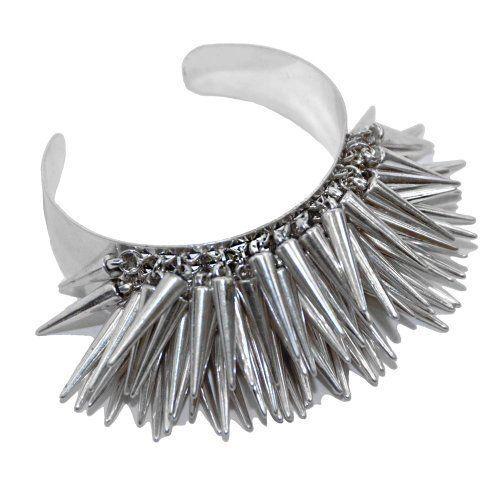 RageIT – Nieten Cluster Armreif in Silber Farbton   Your #1 Source for Jewelry…