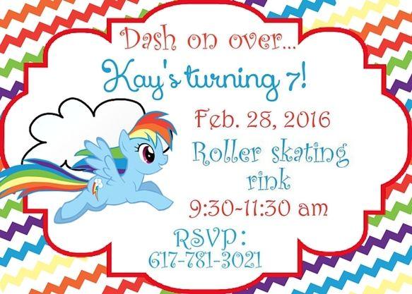 Rainbow Dash Invitation Party Little Pony Free Printable