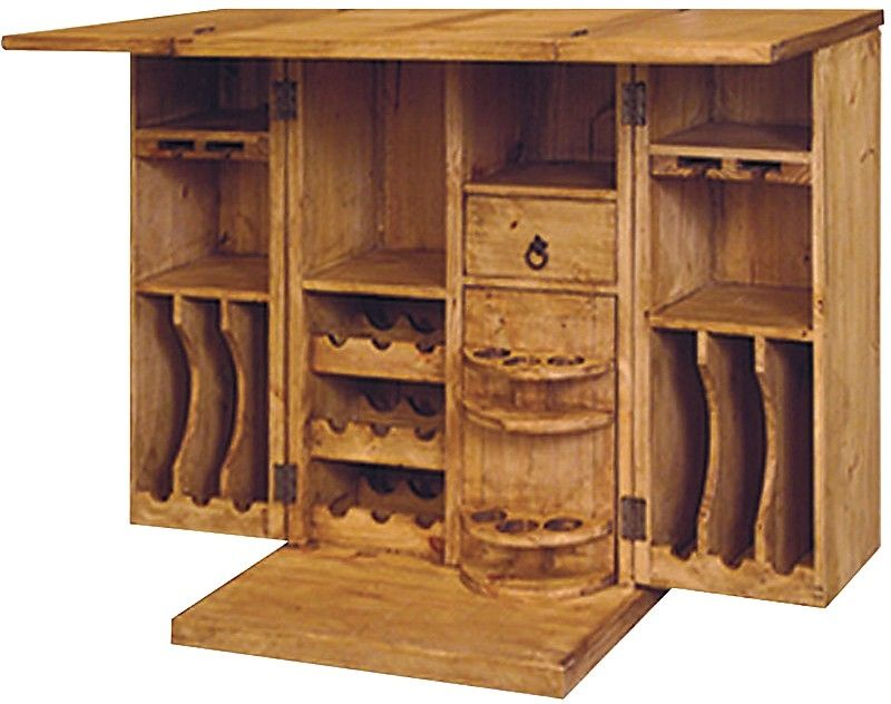 Exceptional Santa Fe Rusticos Solid Pine Unfolding Bar | United Furniture Warehouse