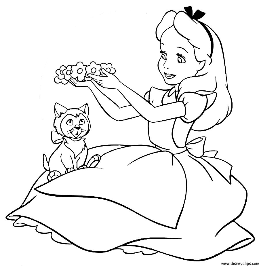 Alice Wonderland Coloring Pages | Coloring Pages | Pinterest