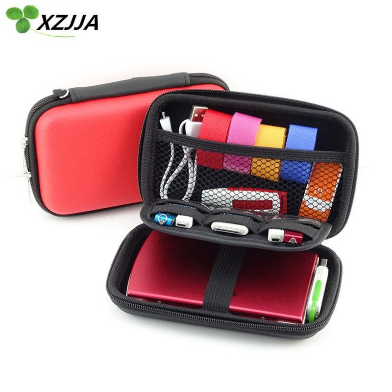 Pocket Jewelry Protective Data Line Box Wire Cable Organizer Earphone Case
