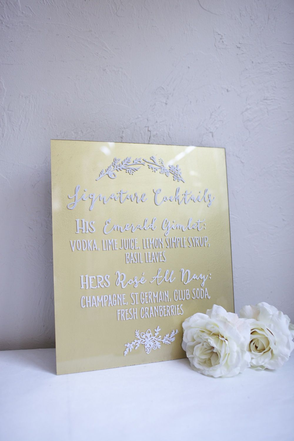 Frameless Acrylic Hand Painted Sign. Choose a size. Wedding Welcome ...