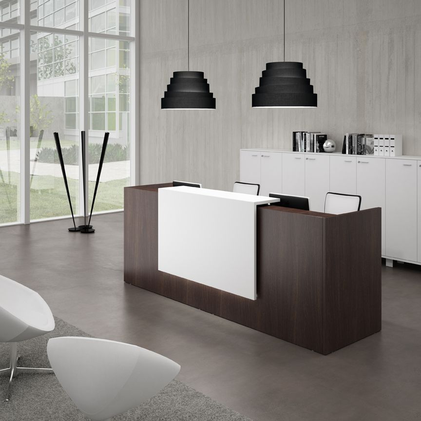 Sleek design modern functionality a professional for Modern office area