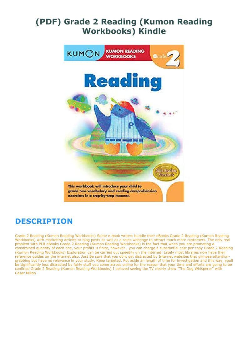 Pdf Grade 2 Reading Kumon Reading Workbooks Kindle Workbook Reading Comprehension Skills Kumon [ 1123 x 793 Pixel ]