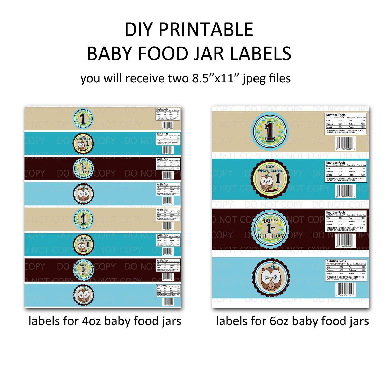 Baby Food Jar Label Template Baby Food Jars Jar Labels Food Jar