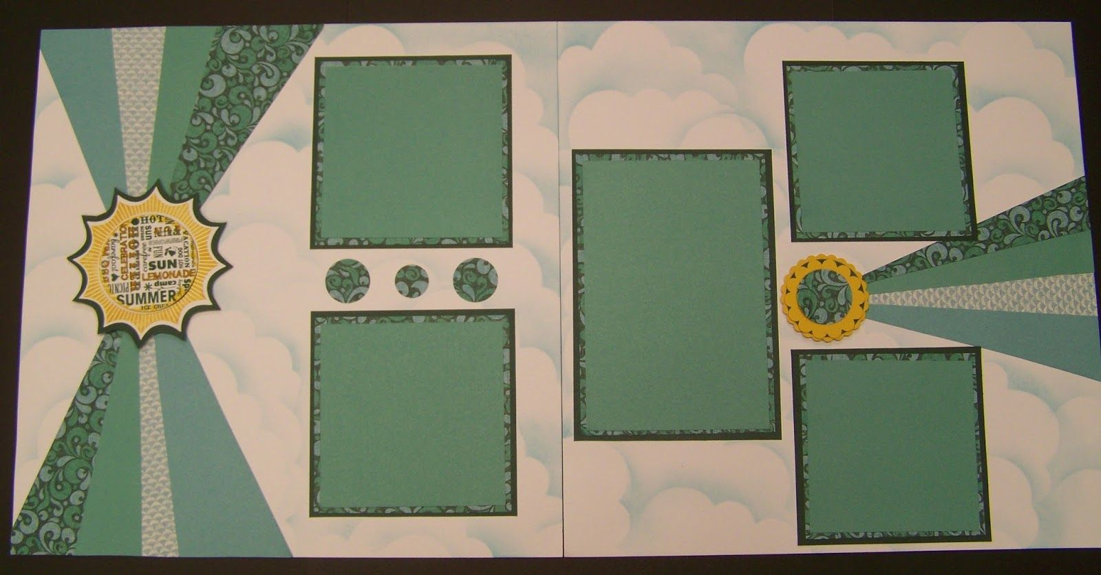 Layout by kathy burrows using ctmh surfus up paper scrapbooking