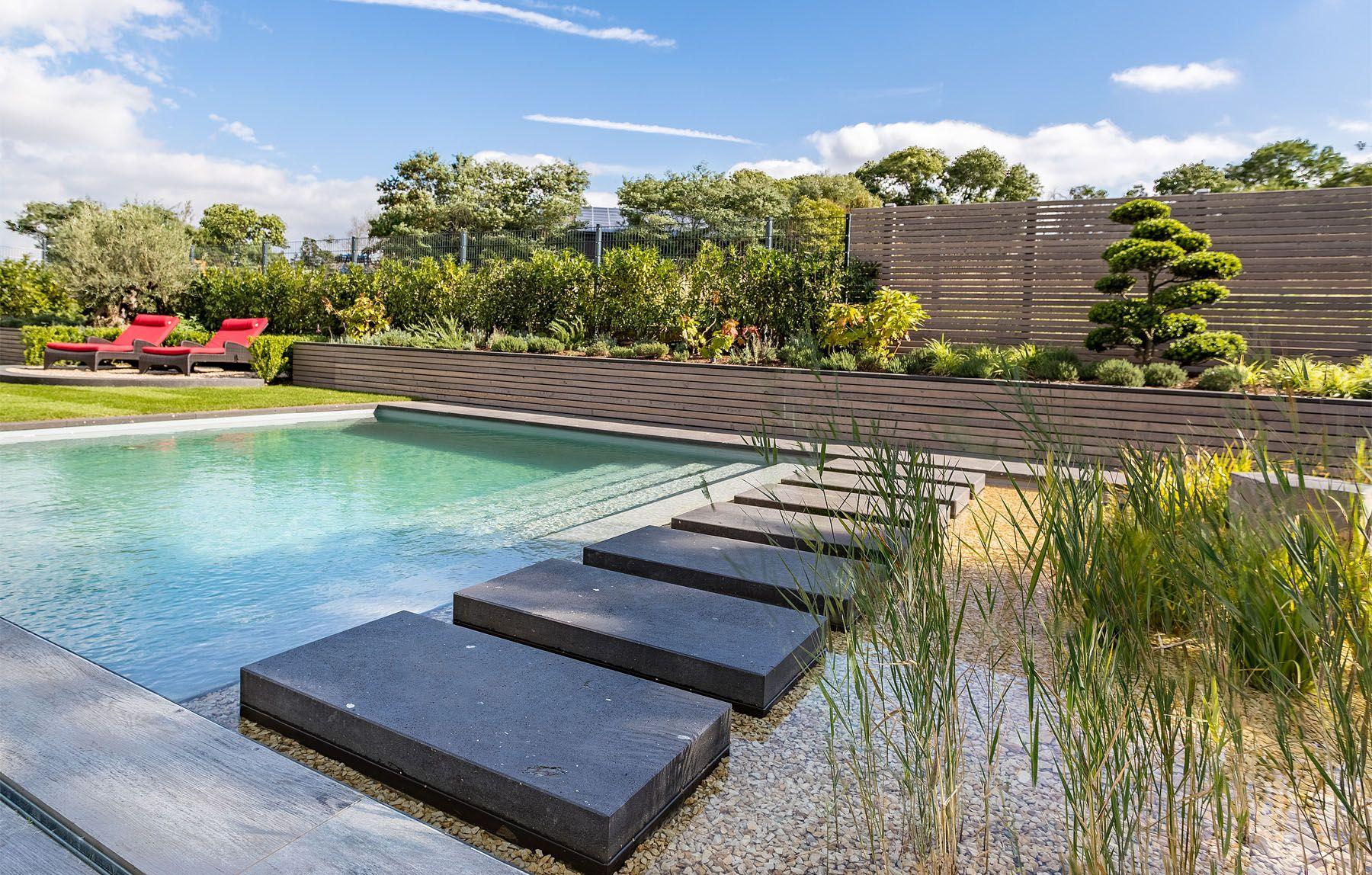 moderner Garten mit Naturpool - Wassergarten 1 - gartenplus - die ...