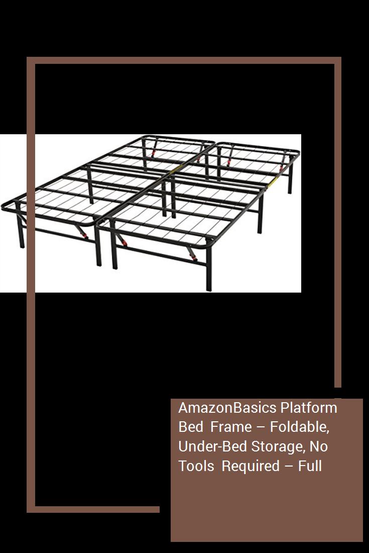 reputable site a2255 01e96 AmazonBasics Platform Bed Frame – Foldable, Under-Bed ...